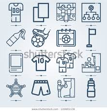Simple Set 16 Icons Related Template Stock Vector Royalty