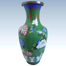 large cloisonne multi colored vase with fl design antique and ruby lane vases glass multi colored vases