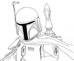 Star Wars Coloring Page Boba Fett Children Coloring Pages Color