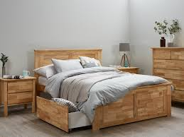 kids beds with storage. Hardwood Double Bedroom Suite With Storage Natural Timber Stain Kids Beds