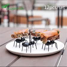 12pc Kitchen Gadgets Mini Ant Fruit Fork Plastic Fruit Decoration