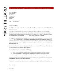 logistics manager cv template supply chain manager cover letter