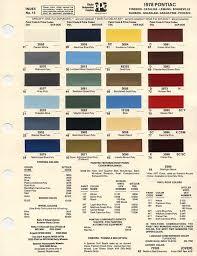 1965 Pontiac Color Chart Pontiac Engine Paint Colors