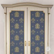 image stencils furniture painting. traditional italian shields furniture stencils for painting doors cabinets and tables royal design image d