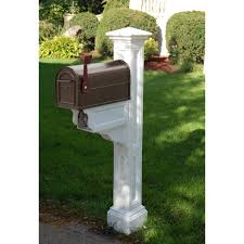 wood mailbox posts. Mayne Charleston Plus Mailbox Post, White Wood Posts