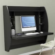 modern space saving wall mounted computer desk in black white or espresso