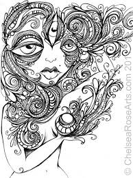 Challenging Trippy Coloring Page Free For Adults | Abstract ...
