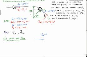 relative velocity and acceleration example part 1 engineering dynamics you