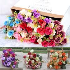 Leaf Color Chart For Sale Details About 21 42 Heads Concise Artificial Rose Silk Flower Leaf Home Wedding Decor Hot Sale
