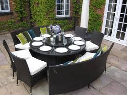 ultimate round outdoor dining table set also elegant throughout designs 15