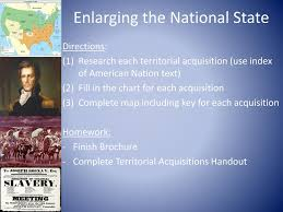 Enlarging The National State Chart Ppt Unit 4 The Rise Of America Powerpoint Presentation