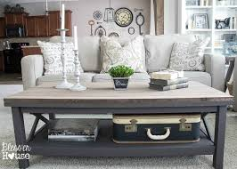 Barn Wood Top Coffee Table | Blessu0027er House   Gorgeous Way To Cover Up