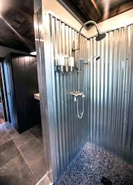 corrugated metal bathroom corrugated metal bathroom walls corrugated galvanized metal ceiling