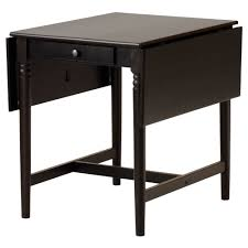 INGATORP drop-leaf table, black-brown Length: 34 5/8
