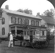 milkman  an american milkman a delivery wagon 1925