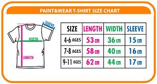 Wear Size Chart Paint Wear Holland 4 6 Jr