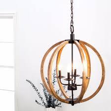 circular modern pendant chandelier modern chandelier lighting globe 4 lights wood ceiling