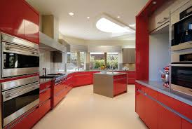 Red Gloss Kitchen Cabinets Contemporary Kitchen Archives Waterview Kitchens
