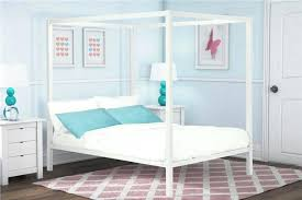 White Full Size Canopy Bed Frame — Bearpath Acres : The Ideal Full ...