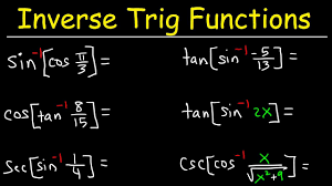 Inverse Trig Functions Chart Evaluating Simplifying Composite Inverse Trigonometric Functions