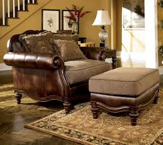 claremore antique living room set. Signature Design By Ashley Claremore - Antique Chair And 1/2 Ottoman  Item Claremore Antique Living Room Set R