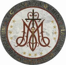 mary copper floor medallions catholic