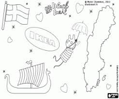 Blinky Flying Over Sweden Coloring Page Printable Game
