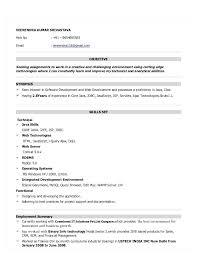 Java Resume Sample Resume For Java No Java Sample Resume 2 Years