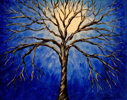 abstract tree painting blue amazing wallpapers