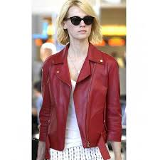 january jones red leather jacket women zoom january