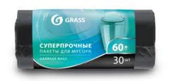 PP-0021 <b>GRASS</b>: <b>Мешок для мусора</b> ПНД в рулоне 60л. 65*55 8 ...