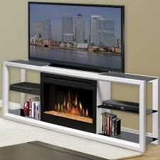 white media console artistic glass along with dimplex novara inch electric fireplace remote water mist way