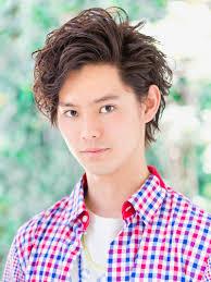 アップバングウェーブショートメンズ髪型 Lipps 吉祥寺mens With