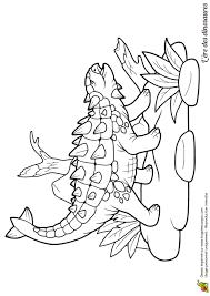 Dessin Colorier De Dinosaures Un Ankylosaure