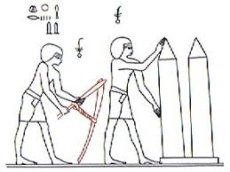 egyptian adze. wilkinsontalks about burials and the ancient custom to hoe earth at those times. he thinks that possibly two circular shapes (in larger egyptian adze