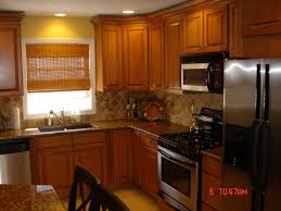 Honey Oak Kitchen Cabinets Wall Color With Shapely Paint Colors