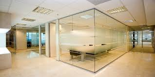 glass office partitions in fairview