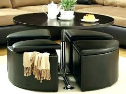 coffee table with stools and storage coffee table with stools underneath round coffee table with stools