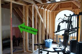 nice walk in closet framed how to build a walk in closet step by step