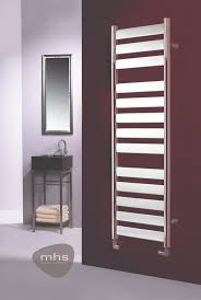 MHS Neos straight chrome towel rail is a flat tubed, fully chrome plated towel  rail