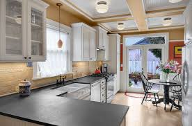 black honed granite countertops