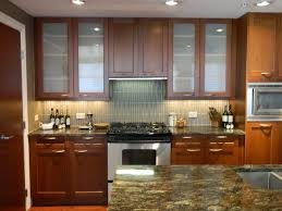 wooden kitchen cabinet glass door