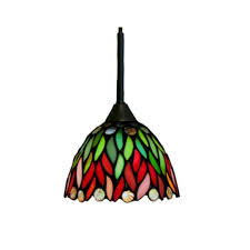 stained glass art nouveau pendant lamps