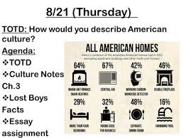 sociology tenth edition ppt video online  8 21 thursday totd how would you describe american culture agenda