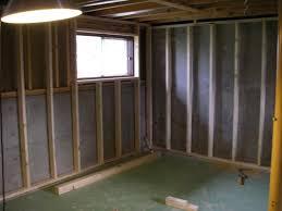 reverse floating framing basement walls