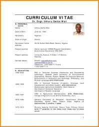 Curriculum Vitae Sample For Fresh Graduate Pdf Luxury Objective