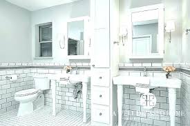 subway tile gray white subway tile with gray grout bathroom white subway tile with gray grout