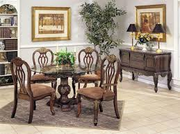 bordeaux marble glass top gold brushed 5 piece dining set in distressed brown finish by acme 7640