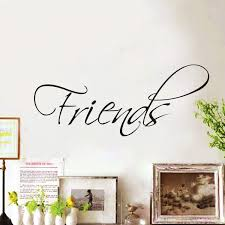 Wall Writing Decor Wall Sticker Quote Friends Home Wall Decal Decor Swirly