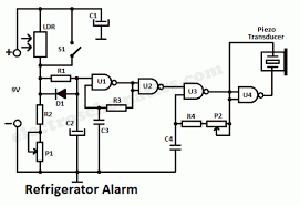 double door refrigerator wiring diagram double refrigerator alarm circuit control circuit circuit diagram on double door refrigerator wiring diagram